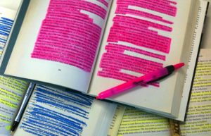 Overly Highlighted Textbook